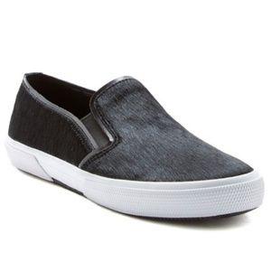 Kenneth Cole Black Genuine Calf Hair Sneaker Loafe
